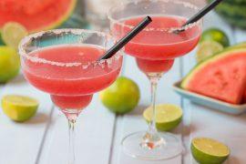 Wassermelonen-Margarita-Gläser